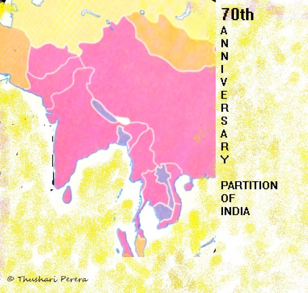 Partition of India Pink Map
