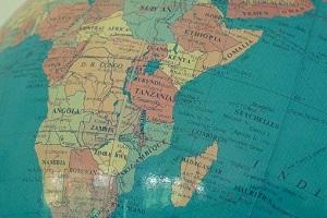 globe map Africa