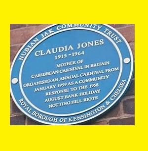 Claudia Jones Blue Plaque