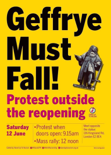Geffrye Must Fall - Stand Up To Racism
